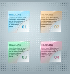 Infographic template glassy square vector