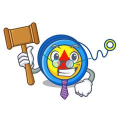 Judge yoyo mascot cartoon style vector