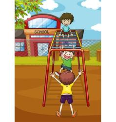 kids and monkey bar vector image