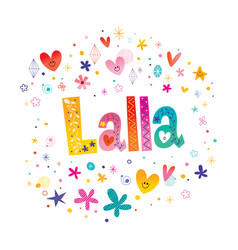 Lalla girls name vector