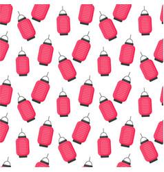 Lantern flat seamless pattern vector