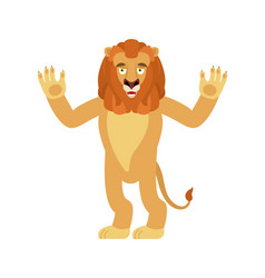 lion happy wild animal merry emoji joyful beast vector image