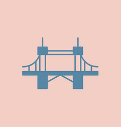 Metal cable suspension bridge modern bridge vector