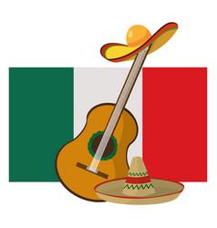 Mexican icon cartoon vector