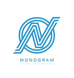 monogram n letter - concept logo template design vector image