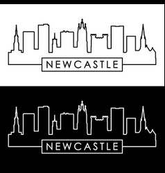 newcastle skyline linear style editable file vector image