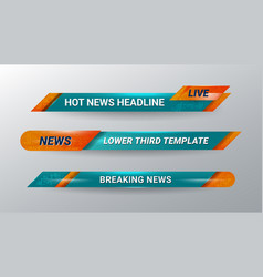 News headline banner vector