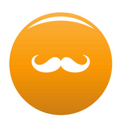 Operetta whiskers icon orange vector