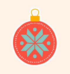 ornamental red christmas tree bauble vector image
