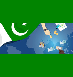 Pakistan fiscal money trade concept vector
