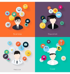People professions concept vector image