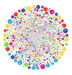 Pharmacy tablet bang sphere vector