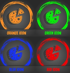 Pizza Icon Fashionable modern style In the orange vector image
