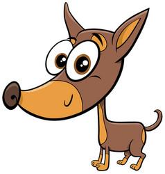 Ratter or rattler purebred dog cartoon animal vector