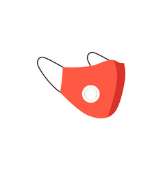 red medical dust protective mask n95 with face vector image