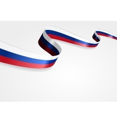 Russian flag background vector image
