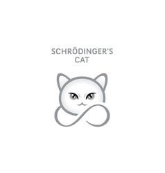 schrodingers cat vector image