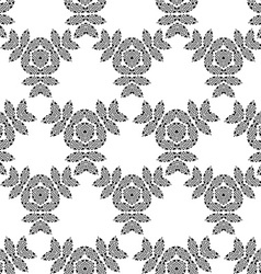 Seamless geometric ornament carved vector