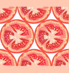 seamless pattern of tomato slice vector image