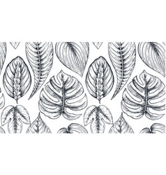 seamless pattern with compositions of hand drawn vector image