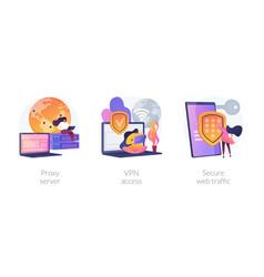 Secure internet access concept metaphors vector