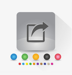 share icon sign symbol app in gray square shape vector image