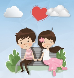 Shy couples vector image