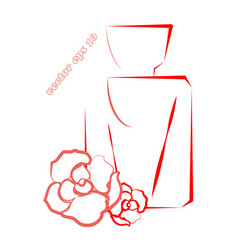 Simple perfume logo with roses vector