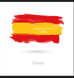 Spain colorful brush strokes painted national vector