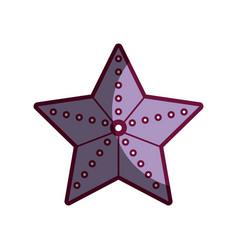 Starfish beautiful marine and beauty animal vector