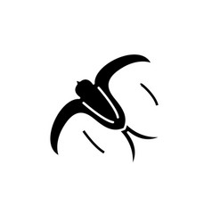 swallow black icon sign on isolated vector image