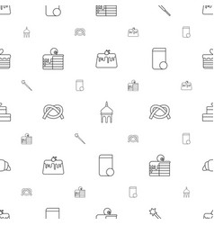 Traditional icons pattern seamless white vector