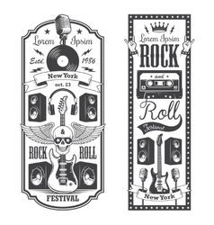 Two rock and roll music flayer covers vector