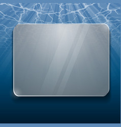 under water glass panel vector image