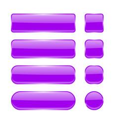 violet glass buttons menu interface elements set vector image