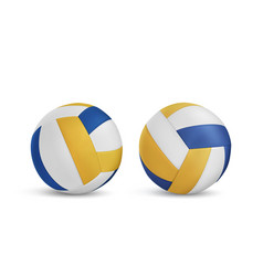volleyball balls set isolated on white background vector image