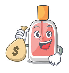 With money bag perfume in the a cartoon bottle vector