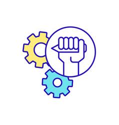 Writing skills improvement rgb color icon vector