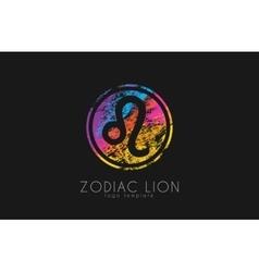 Zodiac symbol Leo Lion symbol zodiac Creative vector