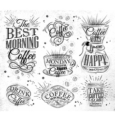Coffee Signs vector image vector image