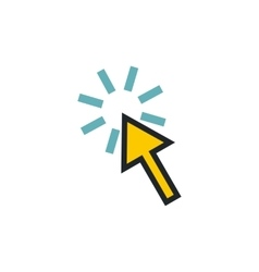 Cursor arrow is pointing icon flat style vector image vector image