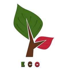 ecological standard logo vector image