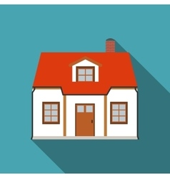 Flat House Icon with Long Shadow vector image vector image