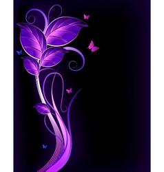 Floral violet background vector image