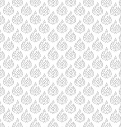 Thai pattern floral 01 vector image vector image