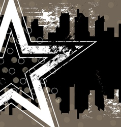 urban retro background design vector image