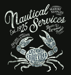 vintage nautical service marine supplies vector image