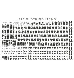 isolated silhouettes of men and women clothing vector image