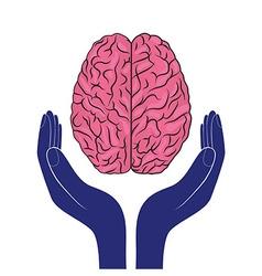 mental health sign human brain as concept vector image vector image