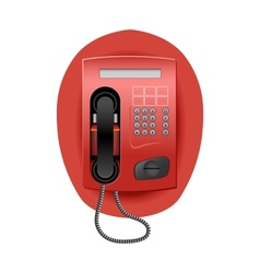 Red Telephone vector image vector image